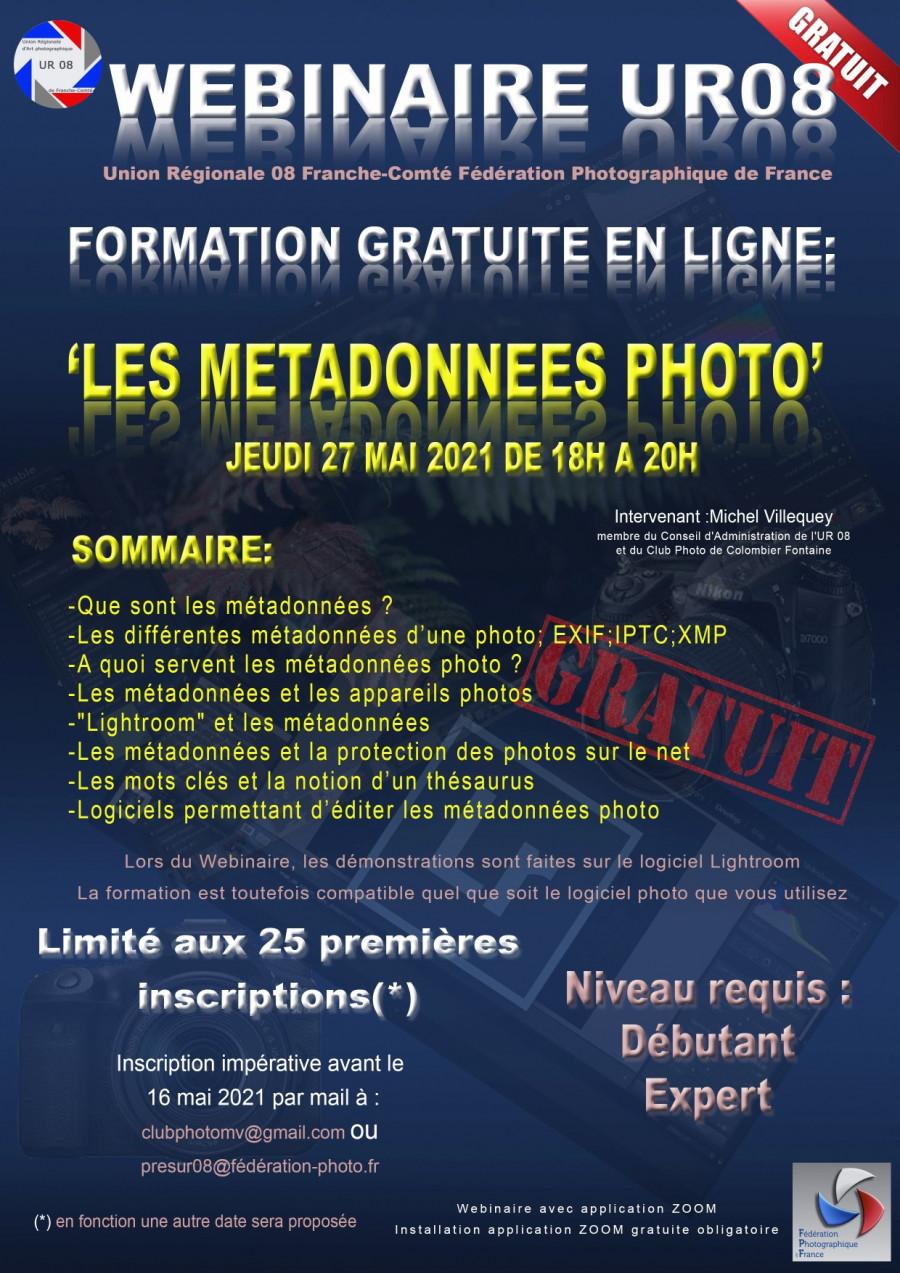 Formation les métadonnées en photo